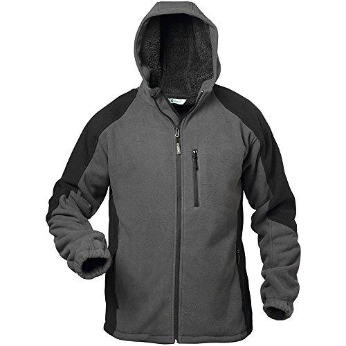 Elysee 23340-3XL Fleece Jacke Tampere Größe 3XL in schwarz/grau