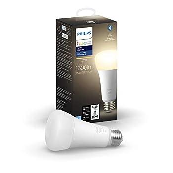 Philips Hue White A21 High Lumen Smart Bulb 1600 Lumens Bluetooth & Zigbee compatible  Hue Hub Optional  Works with Alexa & Google Assistant