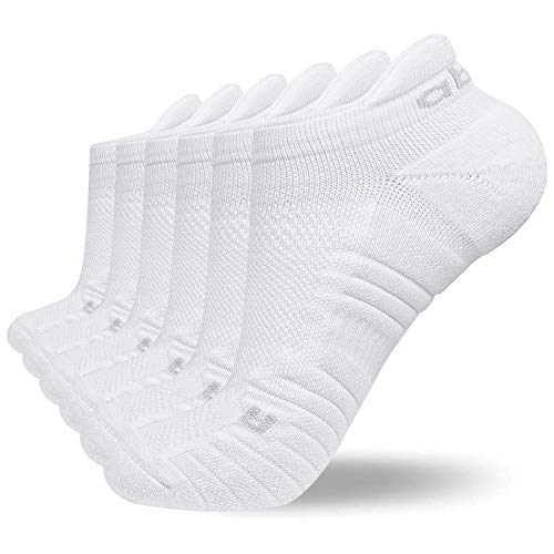Abida 6 Paar Sportsocken Laufsocken für Herren Damen Gepolsterte Knöchel Trainer Socken Athletic Walking Socken