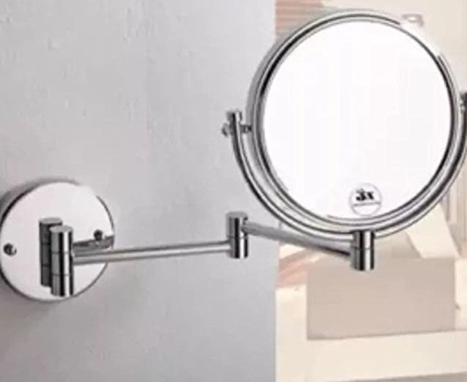 Makeup Mirror, 8'' Wall Mounted Extending Shaving Makeup 10x Magnifying Bathroom Mirror Makeup