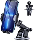 DesertWest Cell Phone Holder for Car Dashboard Car Mount [4.0 Version & Ultra Stable] Windshield Air Vent Universal Compatible with iPhone 13 12 Pro Max 11 X Max XR 8 7, Samsung Galaxy S21 All Phones