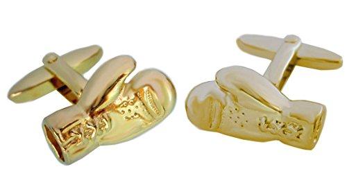 Boxen Boxhandschuhe Manschettenknöpfe vergoldet glänzend Made in Germany + roter Exklusivbox