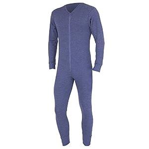 Ropa interior térmica FLOSO®, traje entero para hombre Gris gris oscuro Pecho: 102 cm- 107 cm (L)