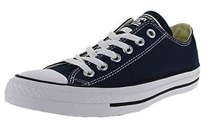 Converse Unisex Chuck Taylor All Star Low Top Navy Sneakers - 11 B(M) US Women / 9 D(M) US Men