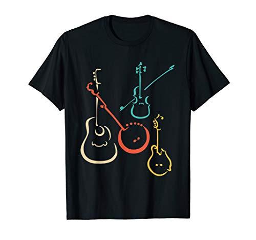 Retro bluegrass, guitars, banjos, fiddles, mandolins T Shirt