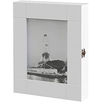 HS-Lighting - Armario para llaves 11 ganchos, de madera, con marco, 24 x 30 x 6 cm, color blanco: Amazon.es: Hogar