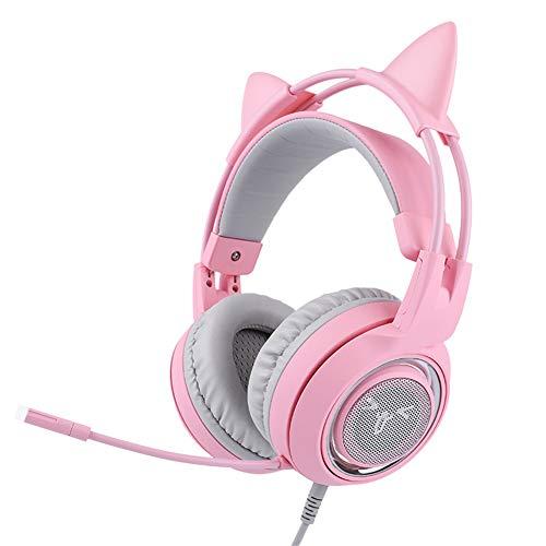 TAOXUE USB Gaming Headset, PC Headset, 7.1 Surround Sound Stereo Gaming Kopfhörer Für PS4, PC Games, Over-Ear Gamer Headphones Mit Mikrofon