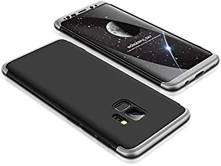 Samsung Galaxy S9 Case, ultra Slim Gkk 360 Protection Cover Case - Black & Silver