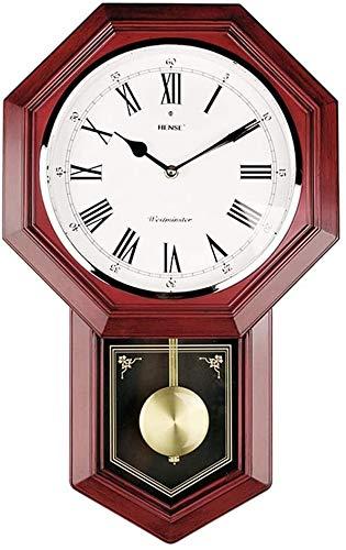 Wanduhr Wanduhr Wohnzimmer Jahrgang Pendeluhr Haushalt Feng Shui Uhr Chinesische antike Quarz-Uhr Uhr Gossip Wanduhr hält die genaue Zeit die Zeitwanduhr (Color : 1)
