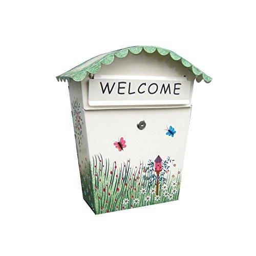 Preisvergleich Produktbild Zfggd Kindergarten-Schule-Lieferungs-Kasten,  Büro-Versorgungsmaterialien Dekorativer gemalter Briefkasten,  kreativer Briefkasten an der Wand befestigter Regenwasser-Posteingang