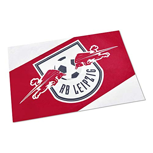 RB Leipzig Block Flagge, Rot Unisex Medium Fahne, RasenBallsport Leipzig Sponsored by Red Bull Original Bekleidung & Merchandise