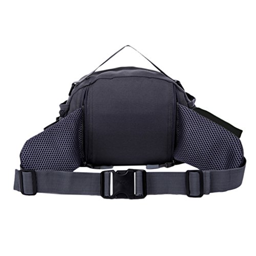 Multi-fonction Unisexe Sacs Banane Sac A Randonnée Voyage Pack Escalade Sportive Sacs - Noir, 28 * 20 * 12cm