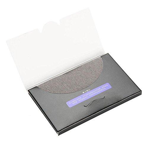 Rotekt 80Pcs / pack Tissus absorbants pour papier absorbant pour contrôle de l'huile du visage des hommes Blotter