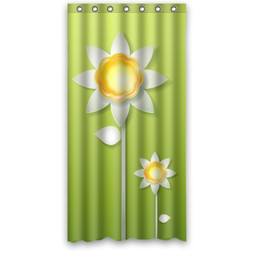 Zonnebloemen op maat douchegordijn 36