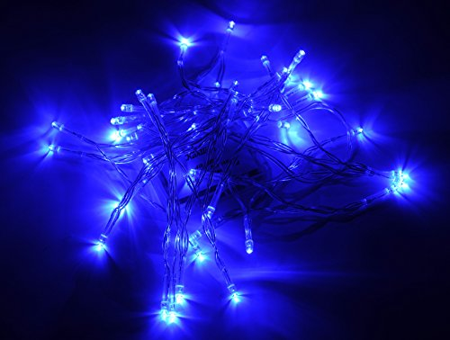 Karlling Battery Operated Blue 40 LED Fairy Light String Wedding Party Xmas Christmas Decorations(Blue)