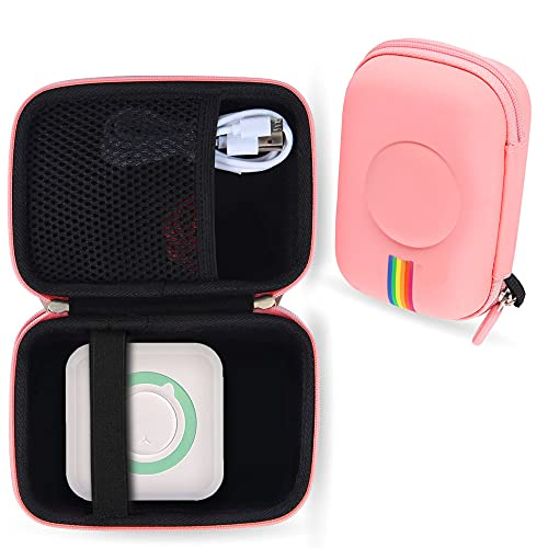 Leayjeen Pocket Printer case Compatible with Mini Portable Photo Printer for iPhone Pocket Wireless Bluetooth Thermal Printer Picture Label Memo Receipt Paper Printer (Case Only)