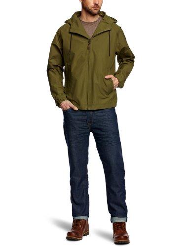 Timberland Clothing Herren Regenjacke , Rundkragen  - Grün - Military Olive - Größe L