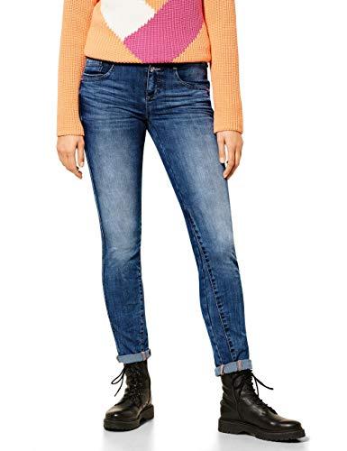 Street One Damen 373822 Style Jane Casual Fit Slim Legs Jeans, brillant Blue Sport wash, W26/L30