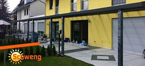 Hochwertige Terrassenüberdachung Schweng 16mm Polycarbonatplatten B: 4,00m x 5,00m T