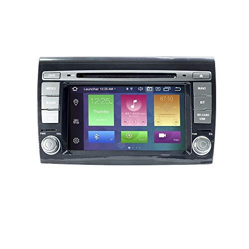 Android Car Radio Stereo, ZLTOOPAI per Fiat Bravo 2007-2012 Android 10 Octa Core 4G RAM 64G ROM HD Digital Multi-Touch Screen Autoradio GPS Radio