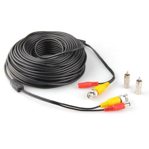 Facibom Cable BNC RCA RCA para vigilancia de seguridad CCTV DVR (40 m)