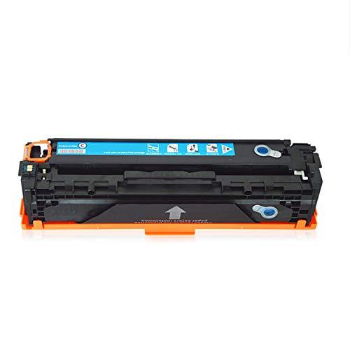 AXAX Cartucho de tóner de repuesto para HP CB540A Compatible con HP CP1215, CP1515N y CP1518NI, impresora de inyección de tinta, fuente de alimentación láser de oficina, excelente expresión cian
