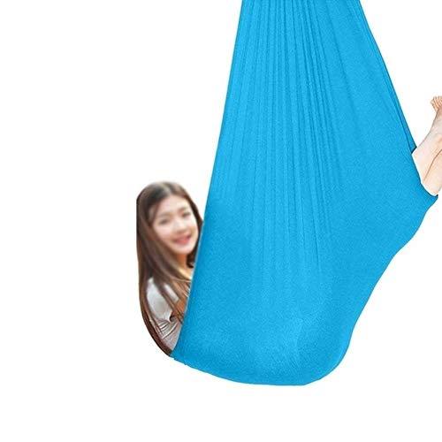 FANW Columpio Terapia Interior para Niños, Adultos Y Adolescentes Columpio De Hamaca Suave Y Abrazos Ajustable Silla Colgante Cama Integración Sensorial Cámping Relajarse