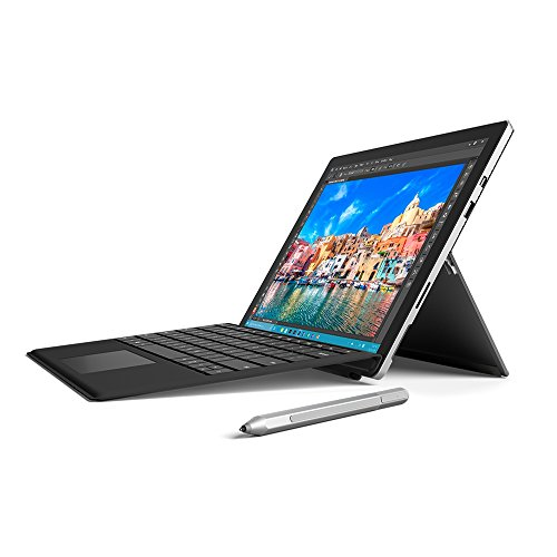 Microsoft Surface Pro 4 12.3 inch Tablet with Keyboard (Black) and Pen (Silver) (Intel Core i5-6300U 2.4 GHz, 4 GB RAM, 128 GB SSD, Integrated Graphics, Windows 10 Professional)