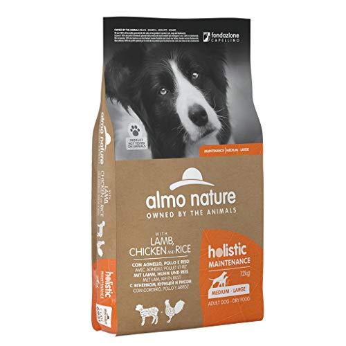 almo nature Dog Holistic Manteinance Medium/Large con Agnello, Pollo E Riso per Cani