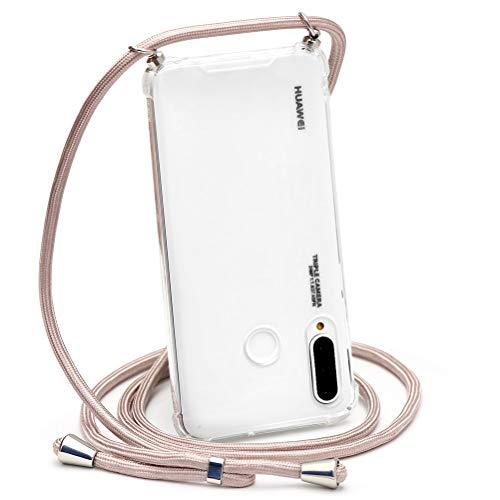 ZhuoFan Funda con Cuerda para Huawei P20 Pro, Cárcasa Silicona Airbag Transparente con Colgante Ajustable Collar de Cuello Cadena Cordón Case Fundas Colgar Movil para Huawei P20 Pro, 05