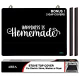 Abra Stove Top Cover for Electric Stove, Washer and Dryer   Thick Natural Rubber   Glass Top Protector   Prevents Scratching   Extra Counter Space   Bonus 2 Gap Covers (28.5x20.5, Homemade Quote)