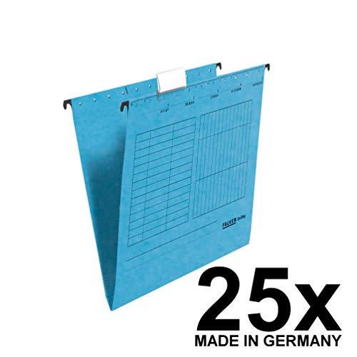 Falken 80002447cartella sospesa verticale per DIN A4, Confezione da pezzi blu