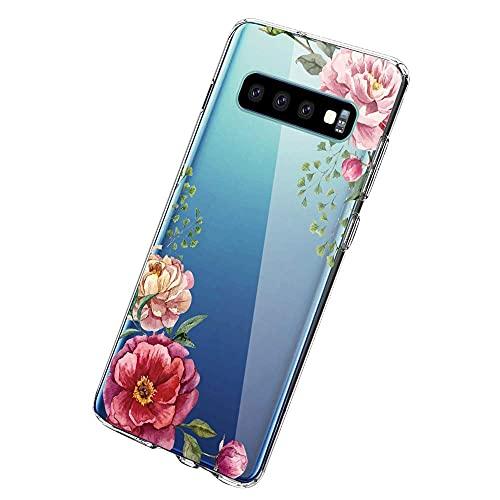Croazhi Compatible with Samsung Galaxy S10 Plus Hüllen,Galaxy S10e/ S10 Handyhüllen Schutzhülle Durchsichtig Silikon Cover Transparent Bumper Case Tasche 360 Marmor (6, Samsung Galaxy S10 Plus)