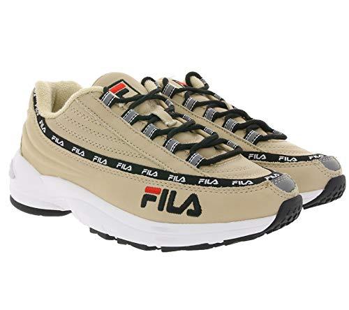 Fila Retro Turn-Schuhe modische Herren 90s Sneaker DSTR97 L Premium Freizeit-Schuhe Mode-Sneaker Hellbraun, Größe:42