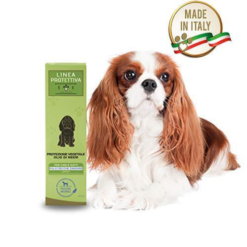 101 love for pet Linea Protettiva Protezione Vegetale Olio di Neem Spray per Cani e Gatti, 250 Ml