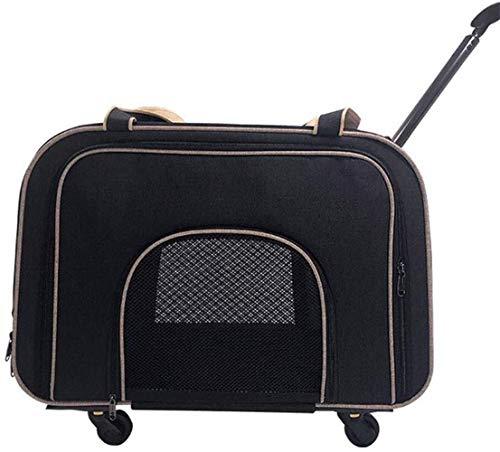 HNWNJ Haustierausstattung Reise Camping Camping Pet Bag Pet Trolley Case Haustier Car Tasche Tragbare Atmungsaktive Pet Rucksack Anti-Grip Atmungsaktive Katzentasche (Color : Black)