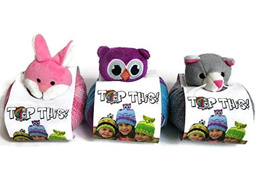 DMC Top This! Yarn Hat Kits, 3-Pack (Bunny/Owl/Kitten)