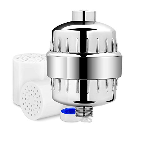 17 Stage High Output Universal Shower Filter with Replaceable Multi-Stage Filter Cartridge –...