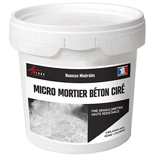 micro-mortier Beton Wachs–Micro Mörser für Beton gewachst, weiß