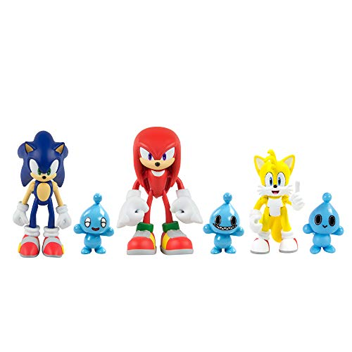 Sonic the Hedgehog Action Figures Ideal Sonic Toys Sonic, Knuckles, Tails, 3 Chao Characters