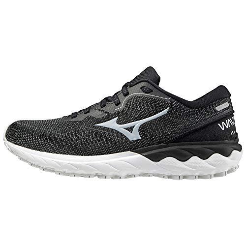 Mizuno Wave SKYRISE 2 (W), Zapatillas de Running Mujer, Black/Cool Silver/White, 36 EU