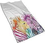 DJNGN Moda Divertida Zebra Splash Print Toallas de Mano Decorativas Grandes Altamente absorbentes Multiusos para baño, Hotel, Gimnasio y SPA