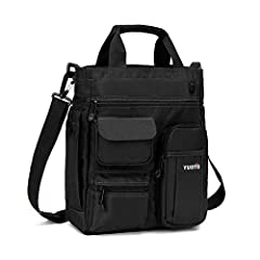 """✅【 Size 】: 13'' high, 11"""" long, 5"""" wide, main compartment easily fits Ipad 12.9"""" and laptop up to 14"""" ✅【 Material 】: External (water-repellent 900D Polyester), Internal (high density tear-resistant lining) ✅【 Multipurpose 】:The messenger bag adjustab..."""