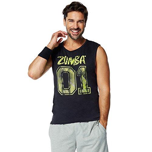 Zumba Fitness Team Zumba Unisex Tank Camiseta sin Mangas, Negro, L