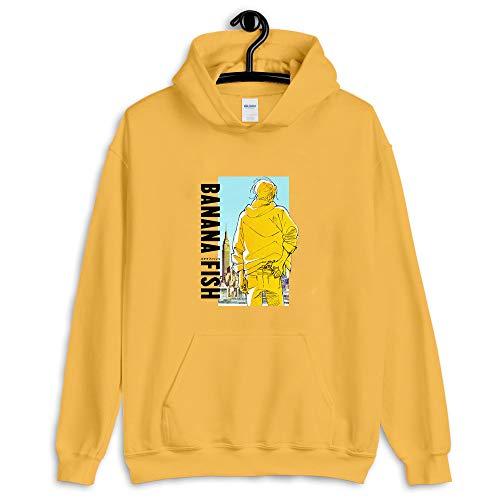 Banana Fish Merch Banana Fish Art T-Shirt - Youth Shirt - Kid Shirt - Men Shirt - Woman Shirt - T Shirt Gift - Happy Birthday Gift - Long Sleeve T-Shirt - Hoodie - Crewneck Sweatshirt Gold