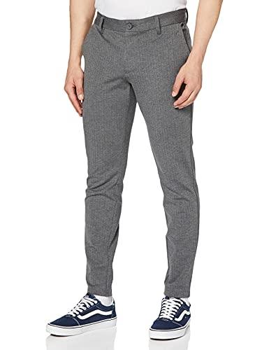 ONLY & SONS Herren Onsmark Pant Stripe Gw 3727 Noos Hose, Medium Grey Melange, 36W 34L EU