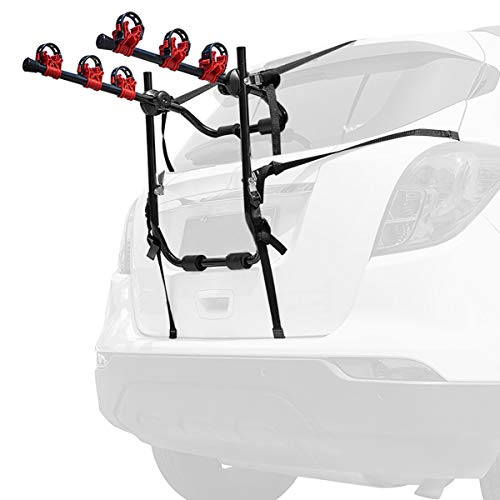 3 Bike Hitch Rack for Car Hitch Mount 2'' Heavy Duty Bicycle Carrier Rack Hitch Mount Double Foldable Rack, Trunk Mount Rack for Cars, SUV, Vans, Minivans