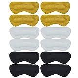 6 pares Almohadillas de agarre del talón Almohadillas de tacón de cuero de cuero genuino de doble capa Inserciones para hombres Zapatos de mujer demasiado grandes