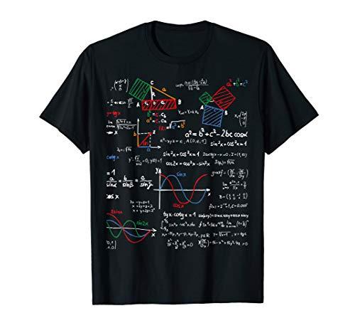 Mathe Lehrer T-Shirt Gleichung Schule Genie I Love Math Tee