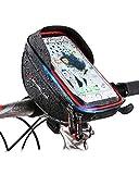 DUGURUI Bastidor Delantero Bicicleta Bolsa De La Caja del Teléfono Monte Impermeable Sostenedor Ciclo Superior Marco Tubo For El iPhone Pro/MAX XS XR X 7/8 Plus, Galaxy S9 8/7/6
